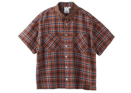 X-Girl Ombrere Plaid Shirt Brownの写真