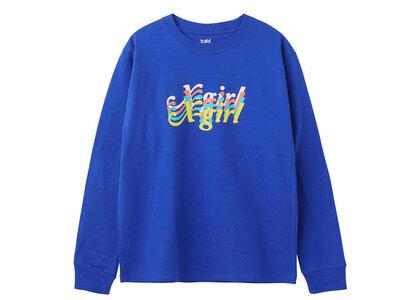 X-Girl Rainbow Logo Regular L/S Tee Blueの写真