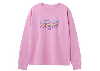 X-Girl Rainbow Logo Regular L/S Tee Pinkの写真