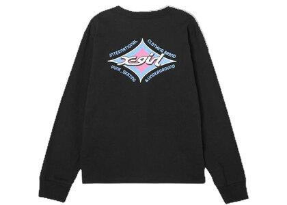 X-Girl Rhombus Logo Regular L/S Tee Blackの写真