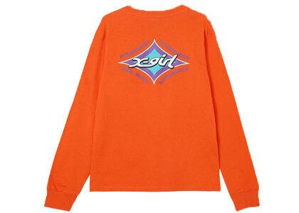 X-Girl Rhombus Logo Regular L/S Tee Orangeの写真