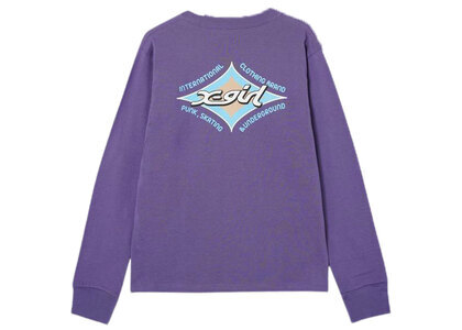 X-Girl Rhombus Logo Regular L/S Tee Purpleの写真