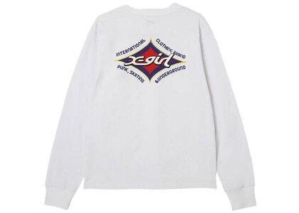 X-Girl Rhombus Logo Regular L/S Tee Whiteの写真