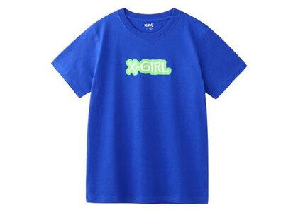 X-Girl Rugged Logo S/S Regular Tee Blueの写真