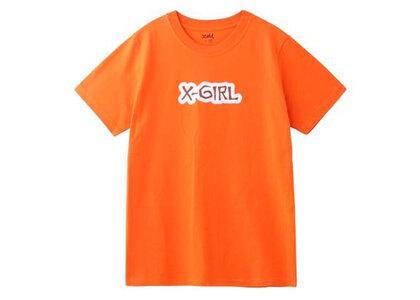 X-Girl Rugged Logo S/S Regular Tee Orangeの写真