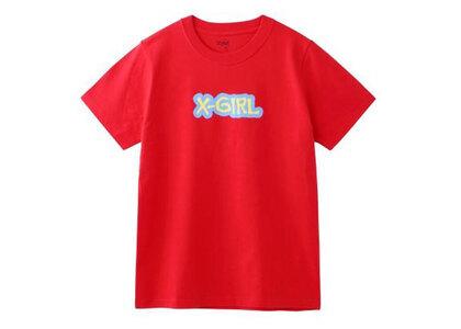 X-Girl Rugged Logo S/S Regular Tee Redの写真