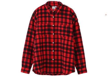 X-Girl Shaggy Plaid L/S Shirt Redの写真