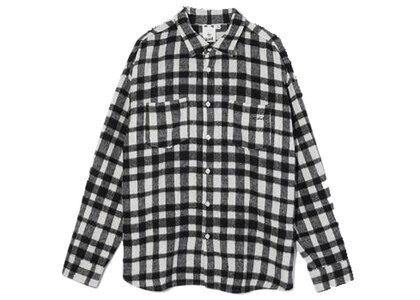 X-Girl Shaggy Plaid L/S Shirt Whiteの写真