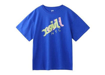 X-Girl Speed Mills Logo S/S Mens Tee Blueの写真