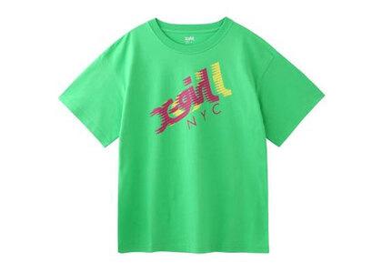 X-Girl Speed Mills Logo S/S Mens Tee Greenの写真