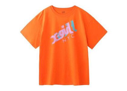 X-Girl Speed Mills Logo S/S Mens Tee Orangeの写真