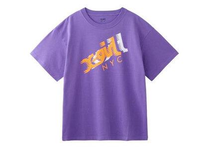 X-Girl Speed Mills Logo S/S Mens Tee Purpleの写真
