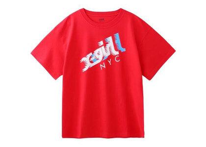 X-Girl Speed Mills Logo S/S Mens Tee Redの写真