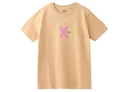 X-Girl Striped Logo S/S Regular Tee Beigeの写真