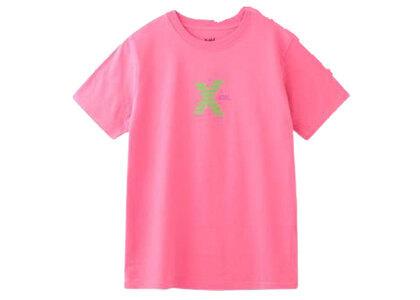 X-Girl Striped Logo S/S Regular Tee Pinkの写真