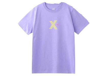 X-Girl Striped Logo S/S Regular Tee Purpleの写真