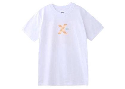 X-Girl Striped Logo S/S Regular Tee Whiteの写真