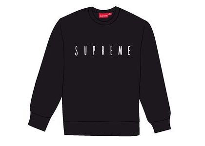 Supreme Fuck You Crewneck Blackの写真