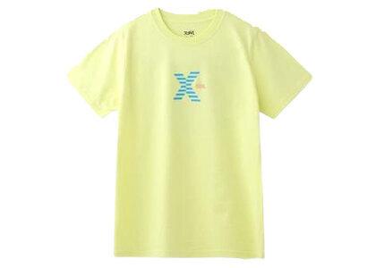 X-Girl Striped Logo S/S Regular Tee Yellowの写真
