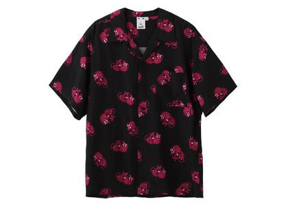 X-Girl Tiger Open Collar S/S Shirt Blackの写真