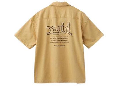X-Girl Words Logo S/S Shirt Beigeの写真