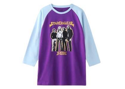 Starcrawler X-Girl × RAGLAN Tee Purpleの写真