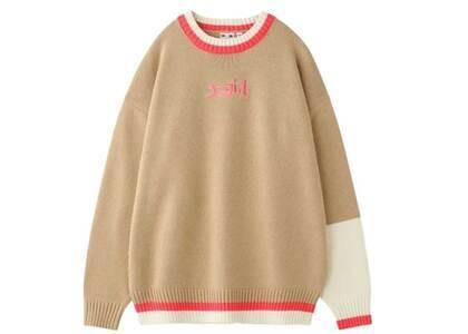 X-Girl Mills Logo knit Top Beigeの写真