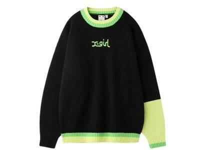 X-Girl Mills Logo knit Top Blackの写真