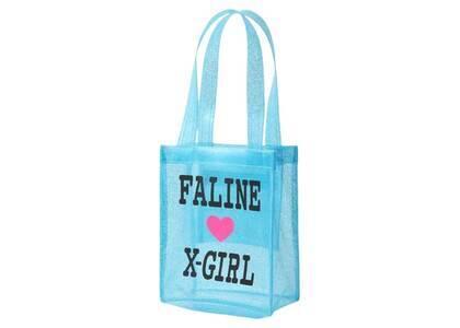 X-Girl × Faline Mini Tote Bag Light Blueの写真