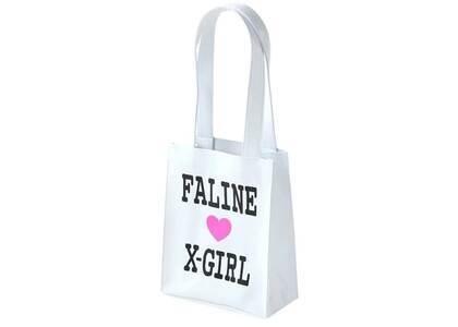 X-Girl × Faline Mini Tote Bag Whiteの写真