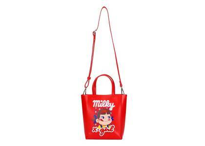 X-Girl × Peko Milky Shopper 2way Mini Bag Redの写真