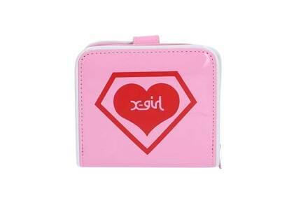 X-Girl × Super Lovers Enamel Wallet Pinkの写真