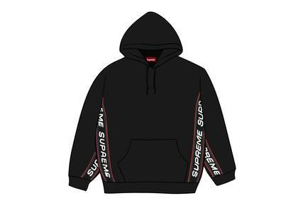 Supreme Text Rib Hooded Sweatshirt Blackの写真