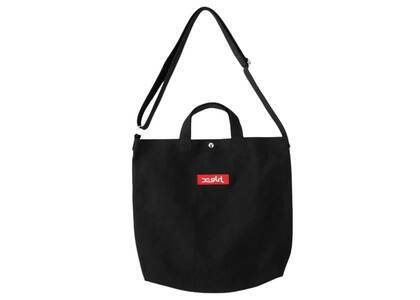 X-Girl Box Logo 2way Tote Bag Blackの写真
