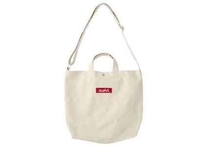 X-Girl Box Logo 2way Tote Bag Whiteの写真