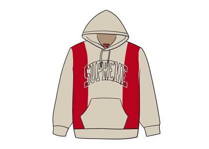 Supreme Paneled Arc Hooded Sweatshirt Naturalの写真