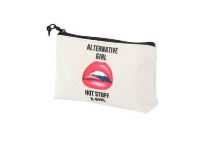 X-Girl Canvas Mini Pouch White/Redの写真