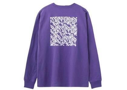 X-Girl Disturbed Box Logo Big L/S Tee Purpleの写真