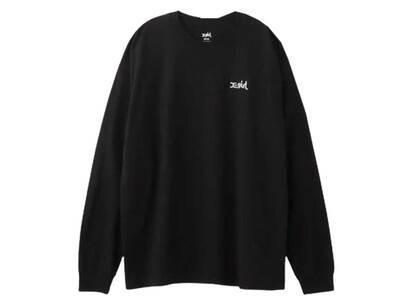 X-Girl Embroidery Mills Logo L/S Big Tee Ec Blackの写真
