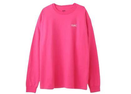 X-Girl Embroidery Mills Logo L/S Big Tee Ec Pinkの写真