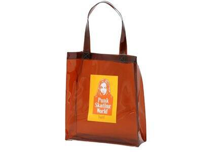 X-Girl Face Clear Tote Bag Brownの写真