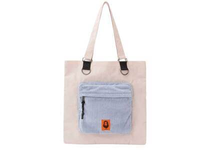 X-Girl Face Patch Tote Bag Beigeの写真