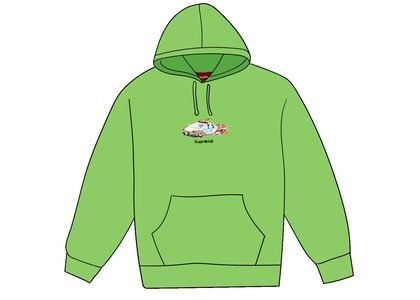 Supreme Cop Car Hooded Sweatshirt Bright Greenの写真