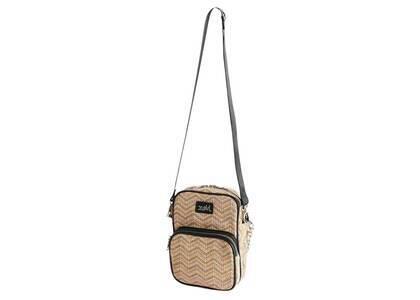X-Girl Faux Leather Piping Shoulder Bag Beigeの写真