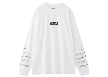 X-Girl Handwritten L/S Big Tee Whiteの写真
