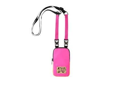 X-Girl Leopard Box Logo Phone Case Pinkの写真