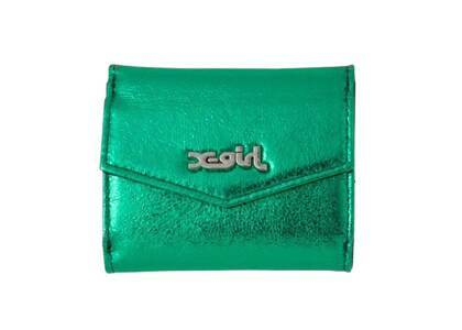 X-Girl Metallic Mini Wallet Greenの写真