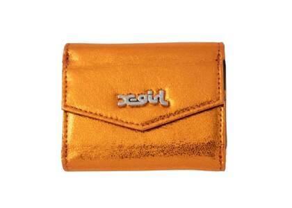 X-Girl Metallic Mini Wallet Orangeの写真