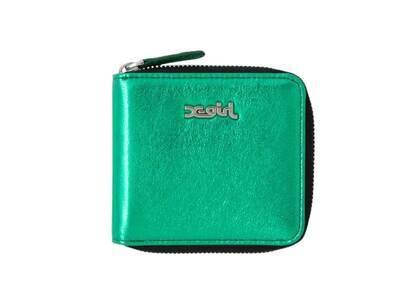 X-Girl Metallic Wallet Greenの写真