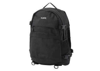 X-Girl Mills Logo Adventure Backpack Blackの写真